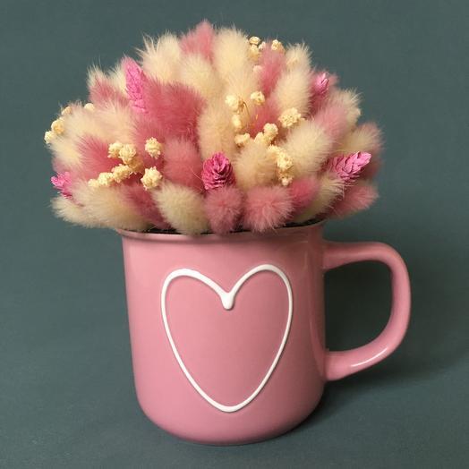 Кружечка с сердечком розовая