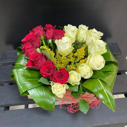 Розы в ящике