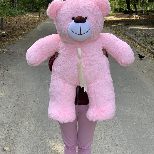 Плюшевый мишка 100 см розовый