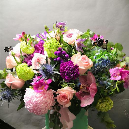 Цветы в коробке Гламур