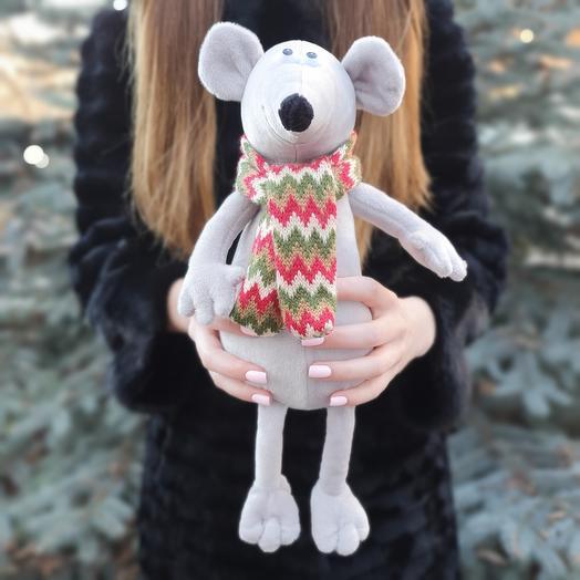 Мышь в шарфе 40 см