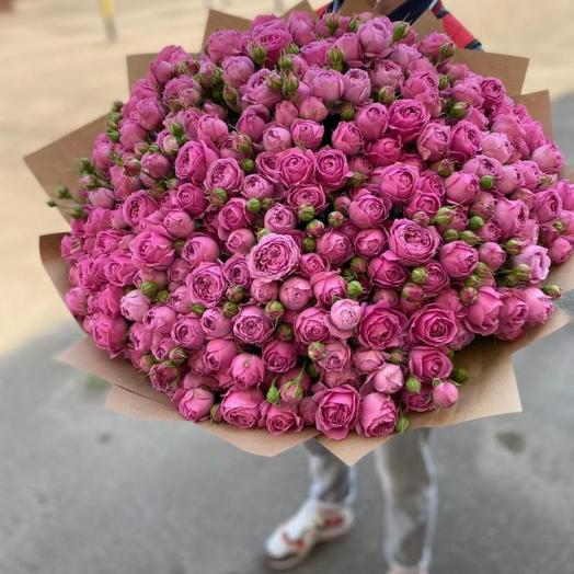 Огромный букет роз Мисти Бабблз
