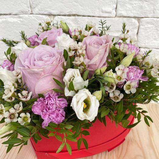 Коробка с цветами «Сердце»