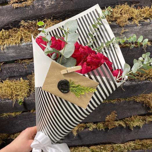 Букет Красный из 19 роз