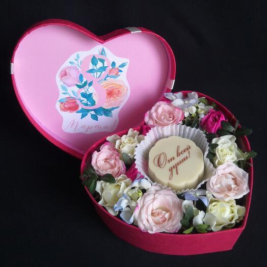 Бельгийский шоколад и цветы с 8 марта! От всей души :)