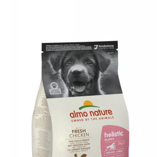 Almo Nature сухой корм для щенков всех пород с курицей 2 кг