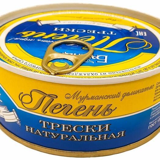 Печень трески натуральная консервы 230 гр