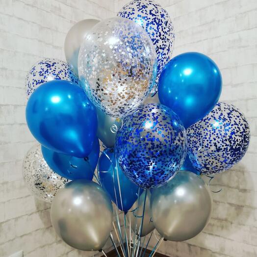 Синие конфетти