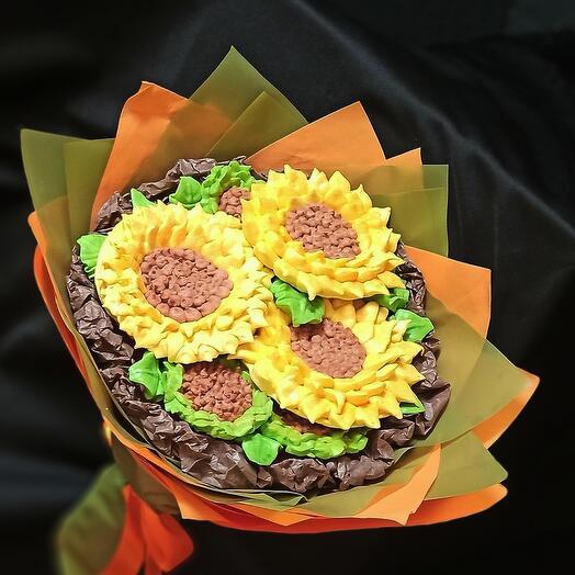 Букет из зефирных цветов