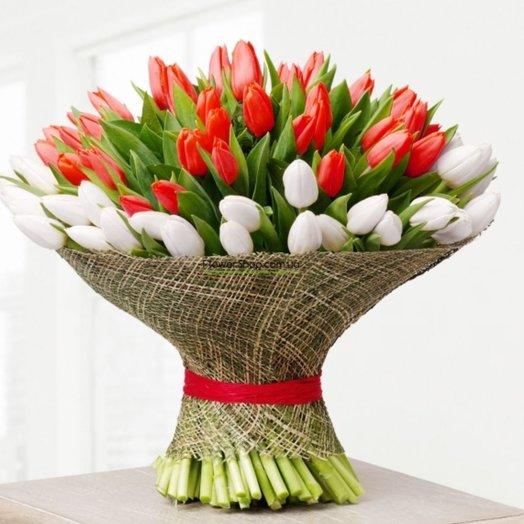 Букет Страсть и нежность: букеты цветов на заказ Flowwow
