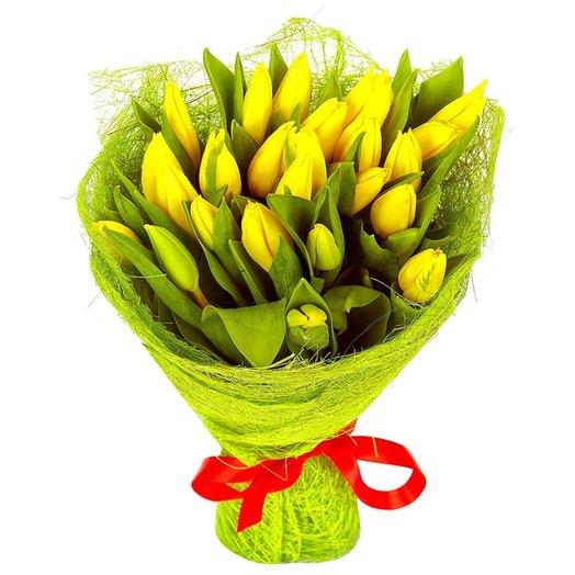 Букет из 25 тюльпанов Желтые