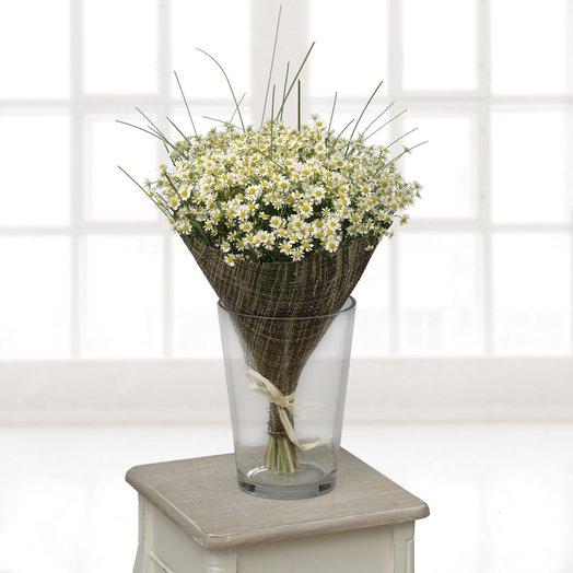 Летний букет с ромашками: букеты цветов на заказ Flowwow