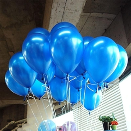 15 синих (голубых) шаров