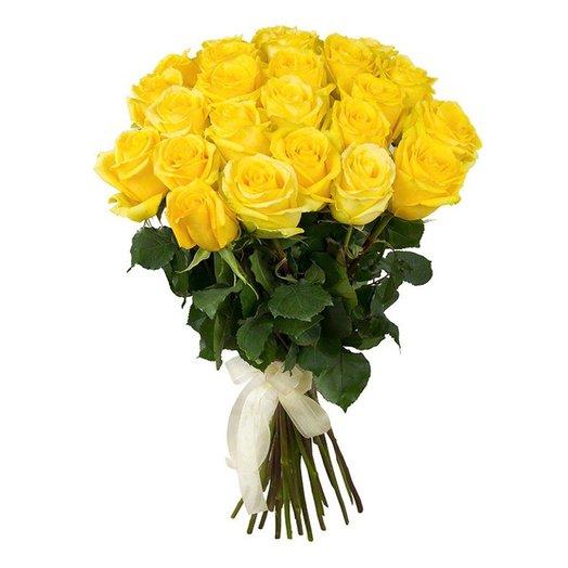 35 желтых роз