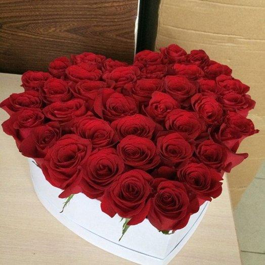 Сердце Роза: букеты цветов на заказ Flowwow