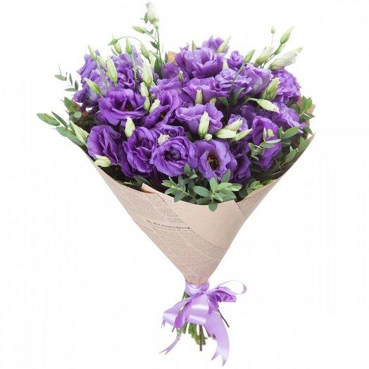 Букет фиолетовой эустомы (17 шт): букеты цветов на заказ Flowwow
