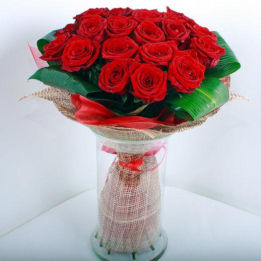 Букет из 25-ти красных роз
