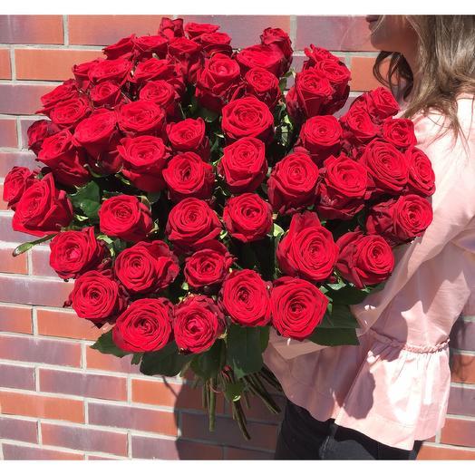 Букет из 53 роз