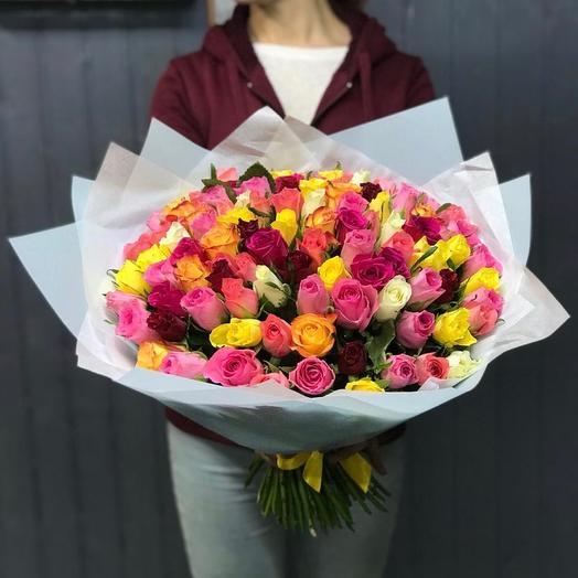 Микс из ярких роз