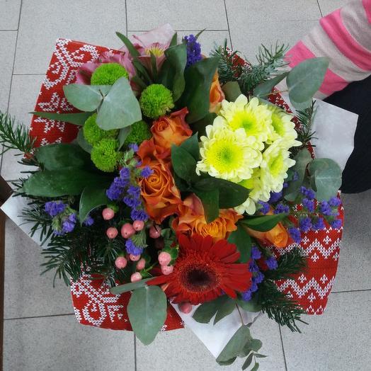 Новогодний огонек: букеты цветов на заказ Flowwow