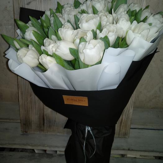 Белоснежные тюльпанчики: букеты цветов на заказ Flowwow