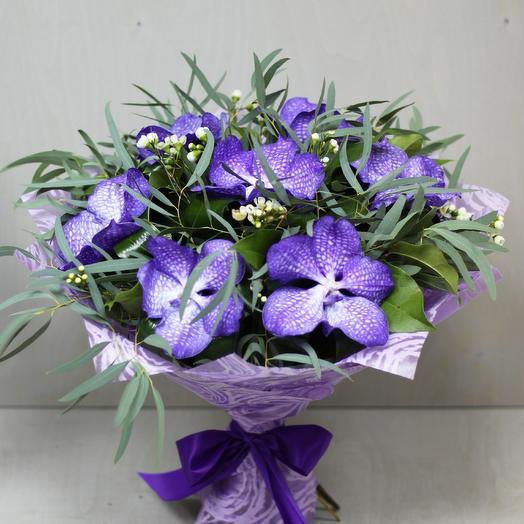 Букет из орхидеи ванда: букеты цветов на заказ Flowwow