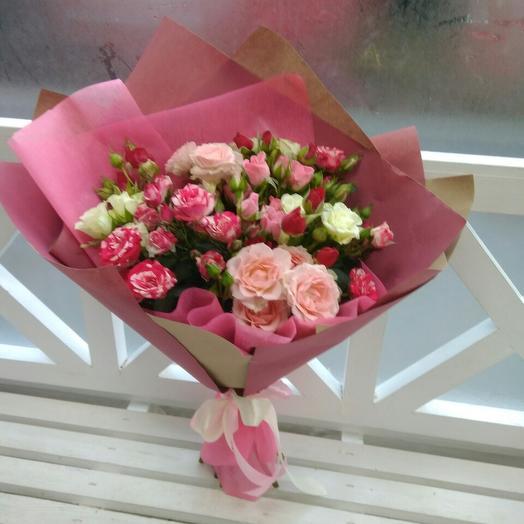 Букет кустовых розочек: букеты цветов на заказ Flowwow