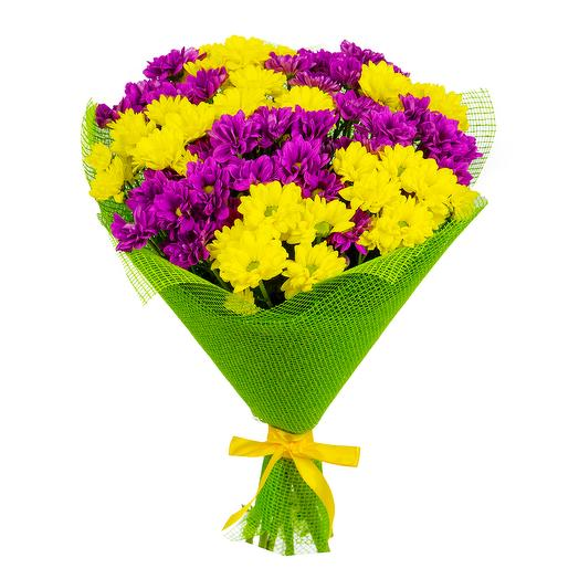 "Букет ""9 хризантем"": букеты цветов на заказ Flowwow"