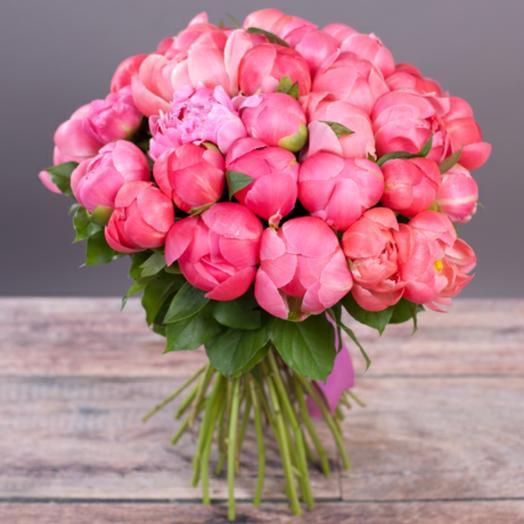 Огромный букет сортовых пионов(35 шт): букеты цветов на заказ Flowwow