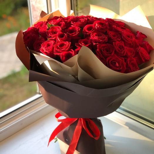 Букет из 45 роз Ped Naomi: букеты цветов на заказ Flowwow