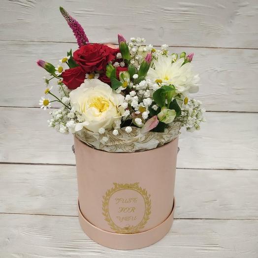 """Шляпная коробка """"Аромат лета"""": букеты цветов на заказ Flowwow"""