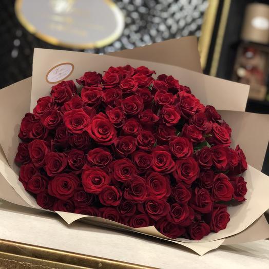 Букет из 71 розы