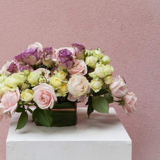 Flowerbag с розами: букеты цветов на заказ Flowwow
