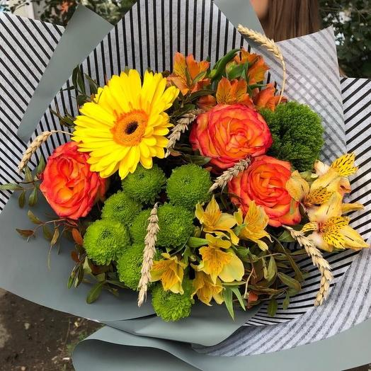 Осенний микс: букеты цветов на заказ Flowwow