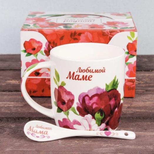 Кружка керамическая «Любимой маме»: букеты цветов на заказ Flowwow
