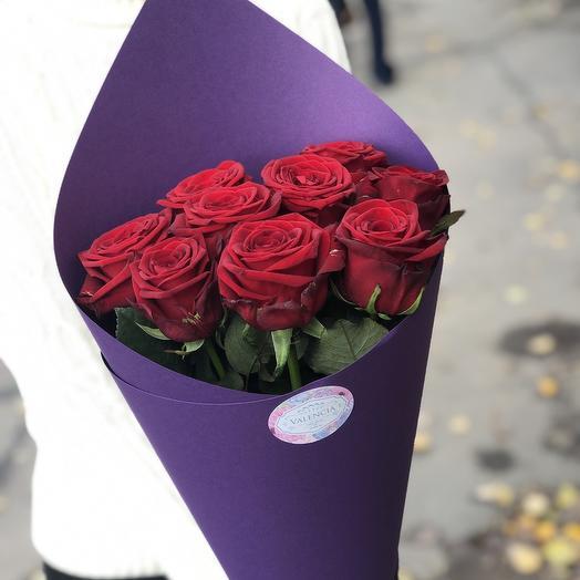 """Букет из красных роз """"Теплая улыбка"""": букеты цветов на заказ Flowwow"""