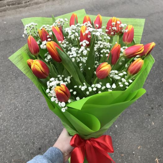 Букет 19 тюльпанов: букеты цветов на заказ Flowwow