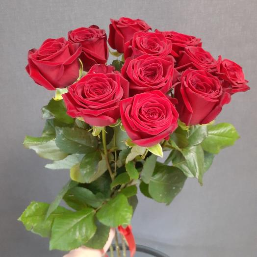 11 роз эквадор 60см