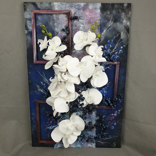 Коллаж Дикая орхидея