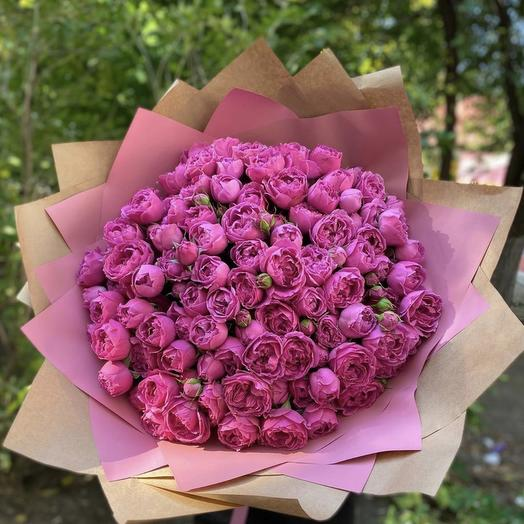 Малиновый фейерверк: букеты цветов на заказ Flowwow