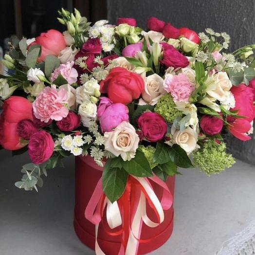 "Коробка с цветвми ""Жемчужина красоты"""