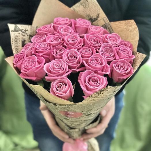 Букет из 29 роз аква
