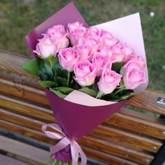 ✅ Букет розовых роз 21