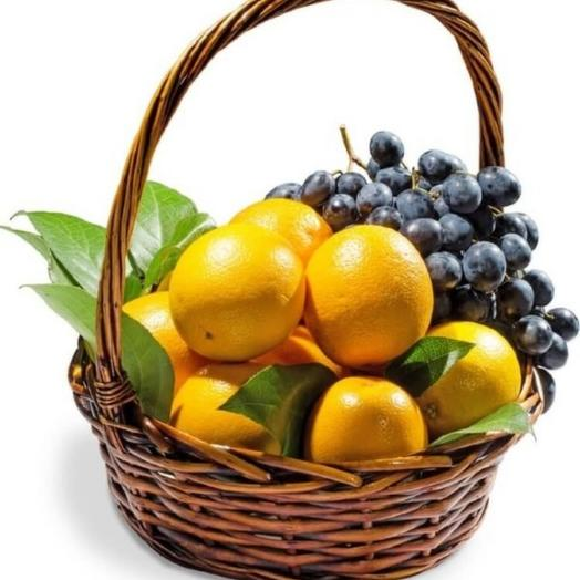 Basket with fruit Vitamins