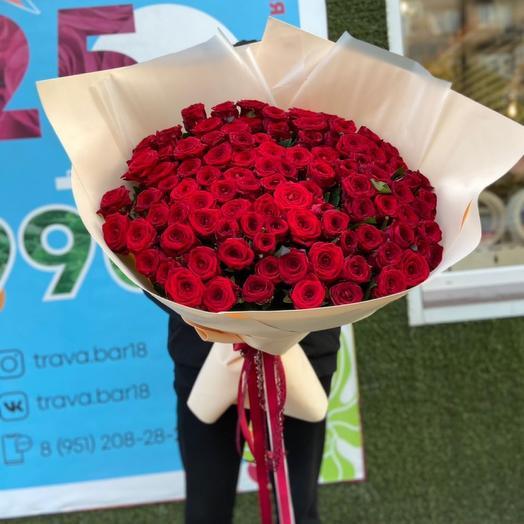 Букет из 101 Розы премиум