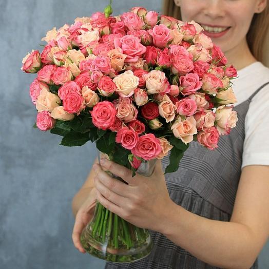 Роза кустовая россыпью 40 см