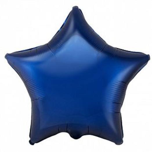 Фольгированный шар синяя звезда