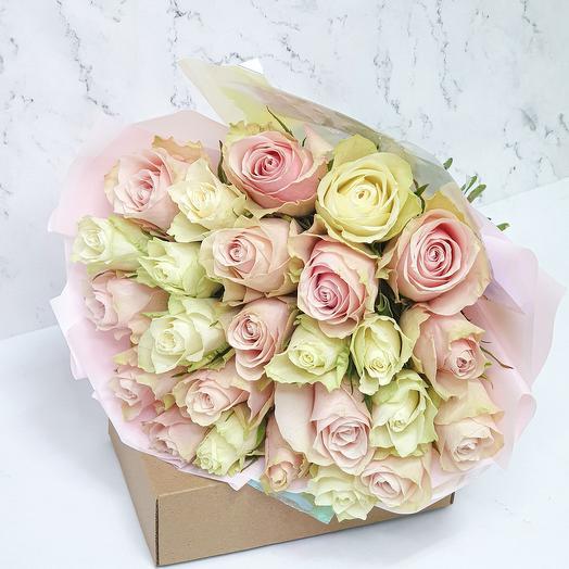 """Монобукет из роз """"Нежность:"""