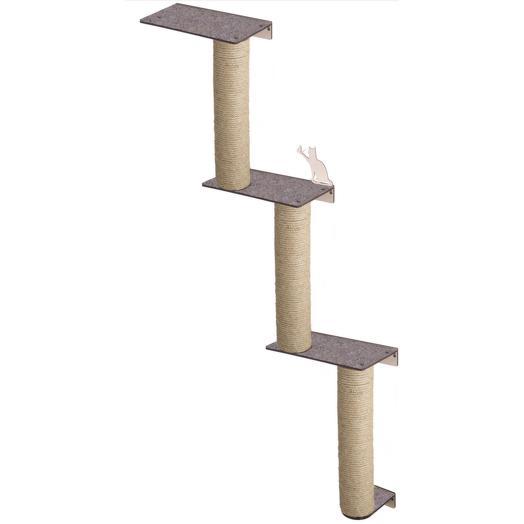Настенный игровой комплекс для кошек Хвостович 128 цвет: бежевый