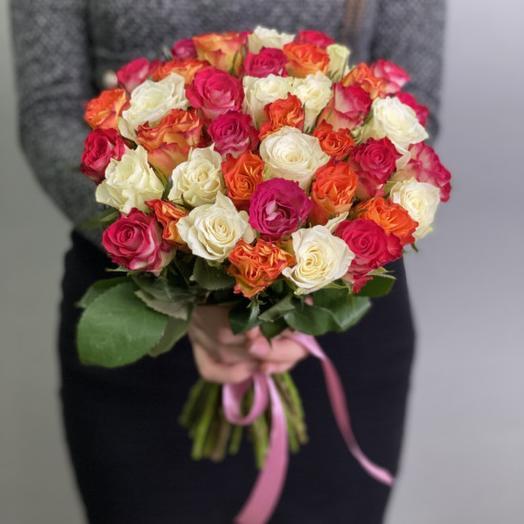 Букет роз «Краски лета»